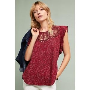 Anthropologie Ranna Gill Fluttered Blouse Small